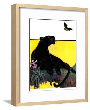 """Black Panther,""August 13, 1932-Lynn Bogue Hunt-Framed Giclee Print"