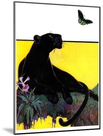 """""""Black Panther,""""August 13, 1932-Lynn Bogue Hunt-Mounted Giclee Print"""