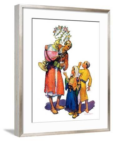 """Arab Vendor and Children,""September 21, 1929-Henry Soulen-Framed Giclee Print"