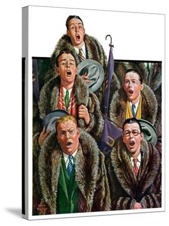 """Singing Men in Raccoon Coats,""November 16, 1929-Alan Foster-Stretched Canvas Print"
