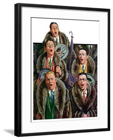 """Singing Men in Raccoon Coats,""November 16, 1929-Alan Foster-Framed Giclee Print"
