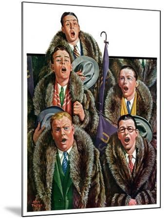"""Singing Men in Raccoon Coats,""November 16, 1929-Alan Foster-Mounted Giclee Print"