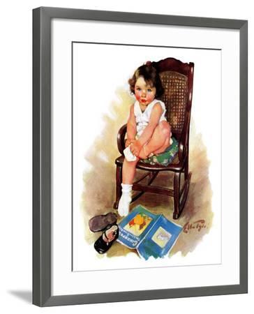 """Toddler in Rocker,""November 12, 1932-Ellen Pyle-Framed Giclee Print"