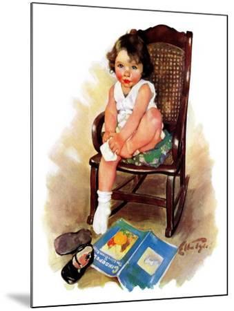 """Toddler in Rocker,""November 12, 1932-Ellen Pyle-Mounted Giclee Print"