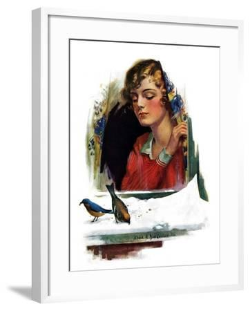 """Snow Birds,""March 6, 1926-Charles A. MacLellan-Framed Giclee Print"