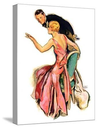"""""""Engaged Couple,""""May 17, 1930-John LaGatta-Stretched Canvas Print"""