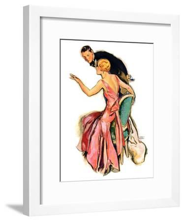 """Engaged Couple,""May 17, 1930-John LaGatta-Framed Giclee Print"