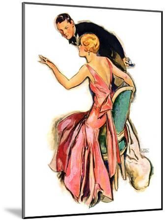 """Engaged Couple,""May 17, 1930-John LaGatta-Mounted Giclee Print"
