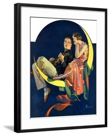 """Crescent Moon Couple,""June 14, 1930-Elbert Mcgran Jackson-Framed Giclee Print"