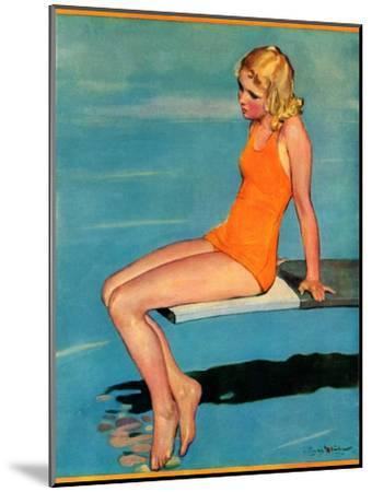 """Sitting on the Diving Board,""August 19, 1933-Penrhyn Stanlaws-Mounted Giclee Print"
