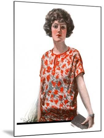 """""""Woman in Floral Print,""""January 27, 1923-Charles A. MacLellan-Mounted Giclee Print"""