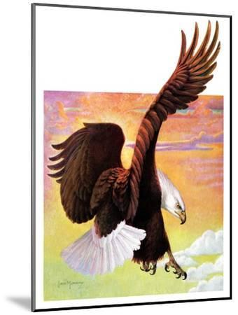 """Soaring Bald Eagle,""October 28, 1933-Jack Murray-Mounted Giclee Print"