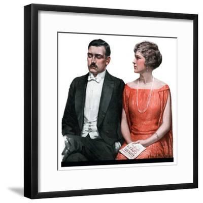 """Sleeping it Opera,""March 24, 1923-Charles A. MacLellan-Framed Giclee Print"