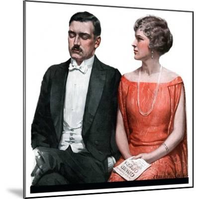 """Sleeping it Opera,""March 24, 1923-Charles A. MacLellan-Mounted Giclee Print"