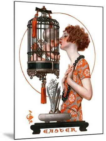 """Easter, 1923,""March 31, 1923-Joseph Christian Leyendecker-Mounted Giclee Print"