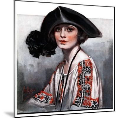 """Woman in Embroidered Blouse,""May 5, 1923-Neysa Mcmein-Mounted Giclee Print"