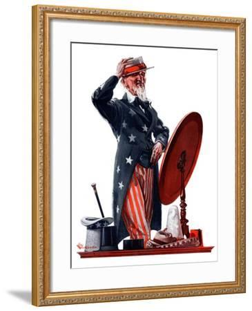 """New Hat for Uncle Sam,""May 12, 1923-Elbert Mcgran Jackson-Framed Giclee Print"