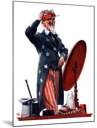 """New Hat for Uncle Sam,""May 12, 1923-Elbert Mcgran Jackson-Mounted Giclee Print"