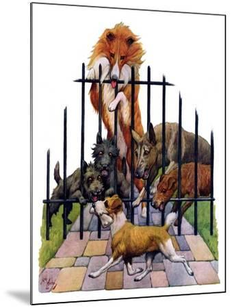 """""""Dog and His Bone,""""March 5, 1927-Robert L^ Dickey-Mounted Giclee Print"""