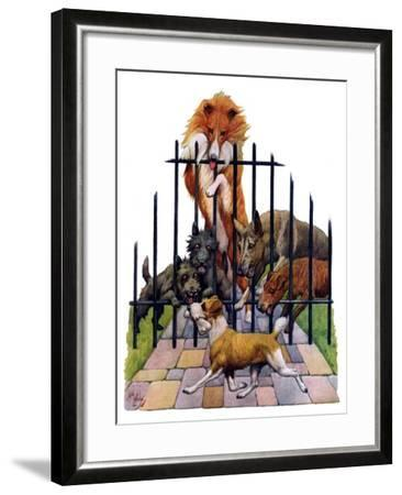 """""""Dog and His Bone,""""March 5, 1927-Robert L^ Dickey-Framed Giclee Print"""