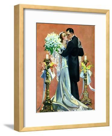 """Bridal Couple Dancing,""June 6, 1931-Elbert Mcgran Jackson-Framed Giclee Print"