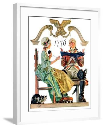 """""""Truce,""""July 4, 1931-Joseph Christian Leyendecker-Framed Giclee Print"""