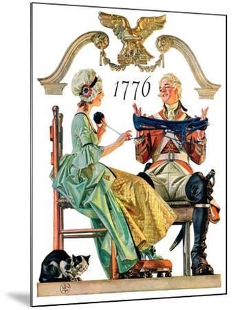 """Truce,""July 4, 1931-Joseph Christian Leyendecker-Mounted Giclee Print"