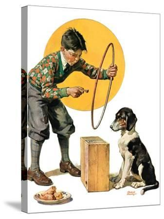 """""""Old Dog, New Tricks,""""July 11, 1931-Frederic Stanley-Stretched Canvas Print"""