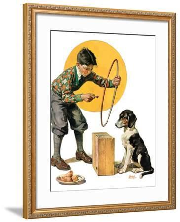 """Old Dog, New Tricks,""July 11, 1931-Frederic Stanley-Framed Giclee Print"