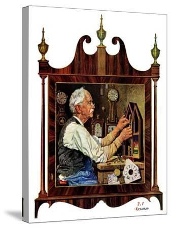 """""""Clockmaker,""""July 18, 1931-J^F^ Kernan-Stretched Canvas Print"""