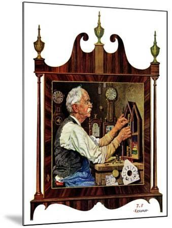 """Clockmaker,""July 18, 1931-J^F^ Kernan-Mounted Giclee Print"