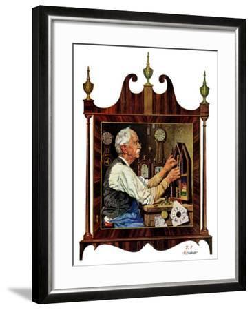 """Clockmaker,""July 18, 1931-J^F^ Kernan-Framed Giclee Print"