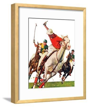 """Polo Match,""June 9, 1934-Maurice Bower-Framed Giclee Print"