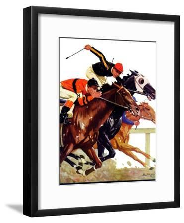 """""""Thoroughbred Race,""""August 4, 1934-Maurice Bower-Framed Giclee Print"""