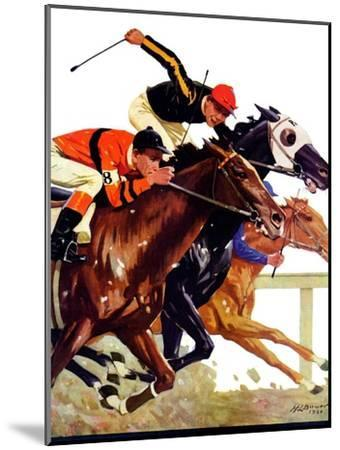 """""""Thoroughbred Race,""""August 4, 1934-Maurice Bower-Mounted Giclee Print"""
