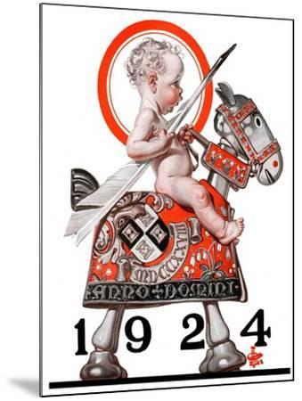 """Sir Baby New Year,""December 29, 1923-Joseph Christian Leyendecker-Mounted Giclee Print"