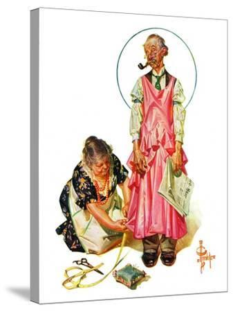 """""""Living Mannequin,""""March 5, 1932-Joseph Christian Leyendecker-Stretched Canvas Print"""