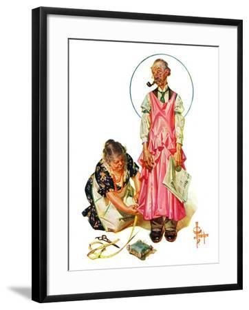 """""""Living Mannequin,""""March 5, 1932-Joseph Christian Leyendecker-Framed Giclee Print"""