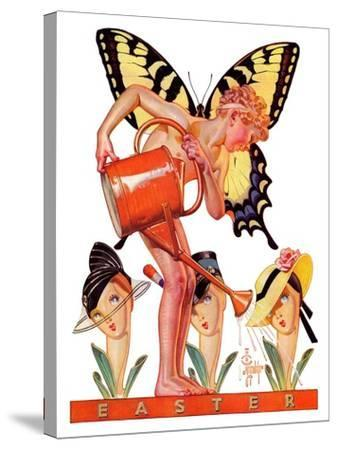 """Easter Fairy,""March 27, 1937-Joseph Christian Leyendecker-Stretched Canvas Print"
