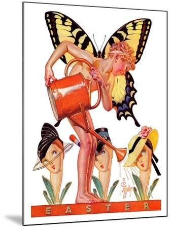 """Easter Fairy,""March 27, 1937-Joseph Christian Leyendecker-Mounted Giclee Print"