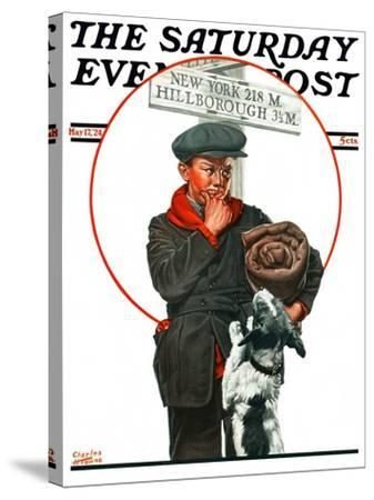 """""""Runaway Boy,"""" Saturday Evening Post Cover, May 17, 1924-Charles Towne-Stretched Canvas Print"""