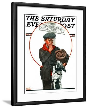 """""""Runaway Boy,"""" Saturday Evening Post Cover, May 17, 1924-Charles Towne-Framed Giclee Print"""