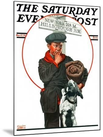 """""""Runaway Boy,"""" Saturday Evening Post Cover, May 17, 1924-Charles Towne-Mounted Giclee Print"""
