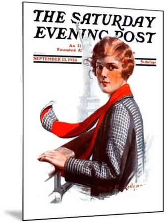 """""""Staten Island Ferry,"""" Saturday Evening Post Cover, September 13, 1924-Charles A. MacLellan-Mounted Giclee Print"""