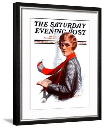 """""""Staten Island Ferry,"""" Saturday Evening Post Cover, September 13, 1924-Charles A. MacLellan-Framed Giclee Print"""