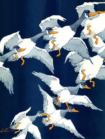 """Flying South,""November 20, 1937-Ski Weld-Stretched Canvas Print"
