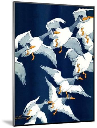 """""""Flying South,""""November 20, 1937-Ski Weld-Mounted Giclee Print"""