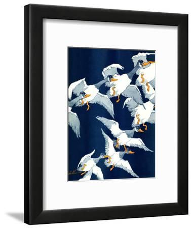 """""""Flying South,""""November 20, 1937-Ski Weld-Framed Giclee Print"""