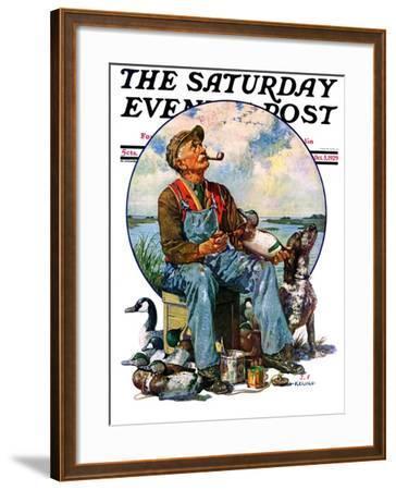 """Decoys,"" Saturday Evening Post Cover, October 5, 1929-J^F^ Kernan-Framed Giclee Print"