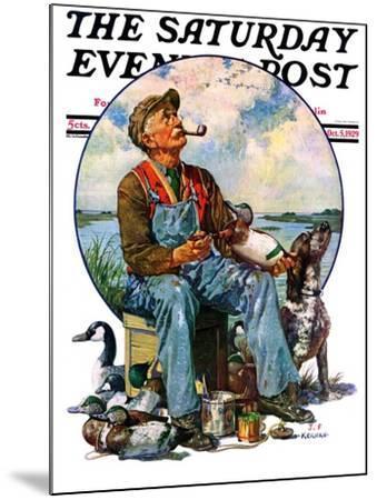 """Decoys,"" Saturday Evening Post Cover, October 5, 1929-J^F^ Kernan-Mounted Giclee Print"